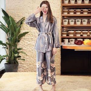 Other - Summer Printed Solid Bandage Women Pajamas